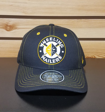 Wheeling Nailers Zephyr Yellow Circle Snap Back Hat