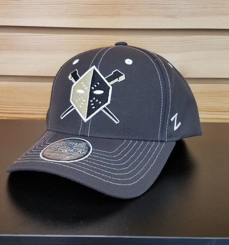 Wheeling Nailers Zephyr Black/White Snapback Hat