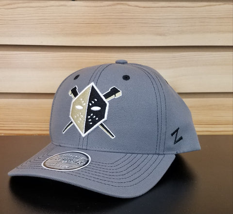 Wheeling Nailers Zephyr Gray Mask Snapback Hat