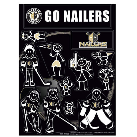 Nailers Car Window Decal (Family)