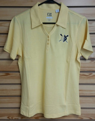 Wheeling Nailers Womens Cutter & Buck Polo Gold