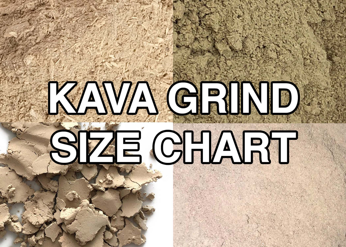Kava Grind Size Chart - Understanding the differences between Medium, Micronized, and Instant Kava