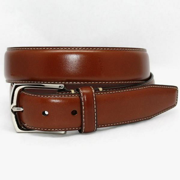 Torino Leather | Burnished Tumble Glove Belt - GARYS
