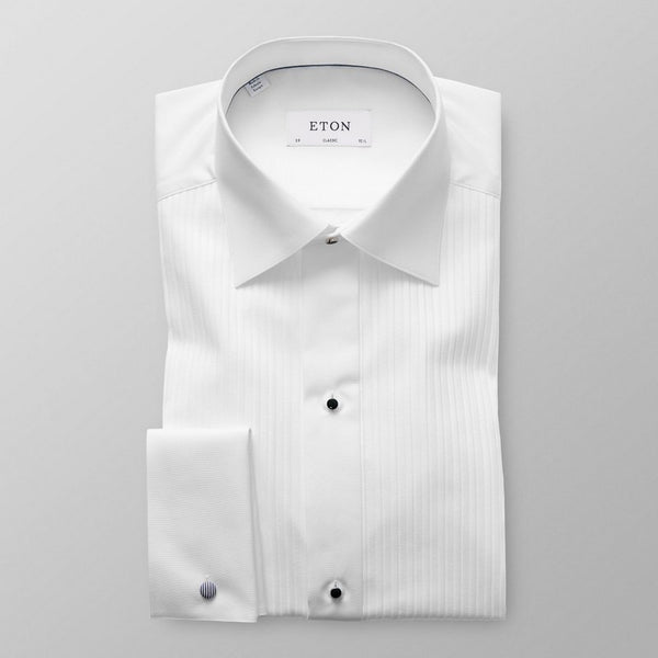 Eton Shirts | Plissé Black Tie Shirt (Classic Fit)