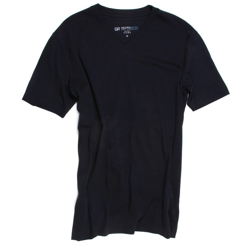Georg Roth | V-Neck Navy Tee - GARYS
