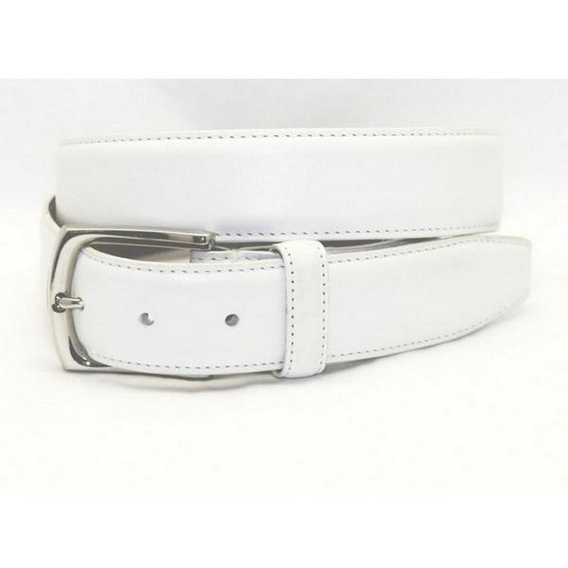 Torino Leather | Burnished White Belt - GARYS