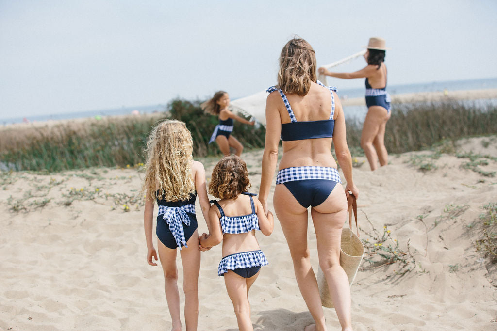Rosalina Bikini Top in Nautical Gingham