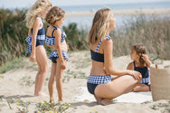 Rosalina Bikini Bottom in Nautical Gingham