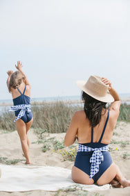 Luciana One Piece in Nautical Gingham