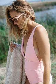 Luciana One Piece in Pink Lemonade