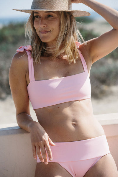 Rosalina Bikini Top in Pink Lemonade