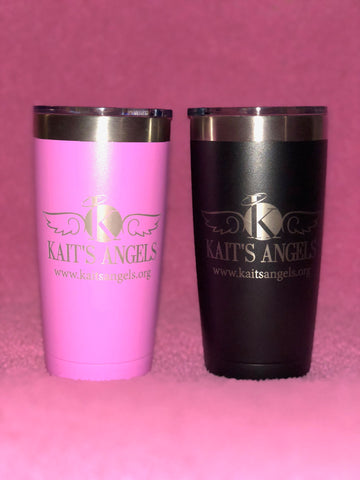 Deluxe Kait's Angels Tumbler (Black or Pink)