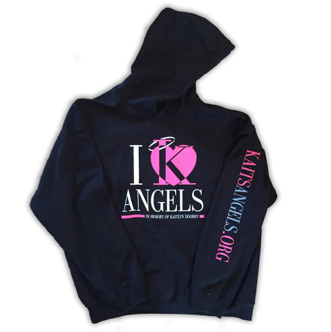 "Hooded Sweatshirt ""I ♥ Angels"""