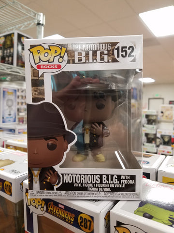 The Notorious BIG   with Fedora Rocks #152 funko pop