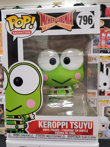 KEROPPI TSUYU MYHEROACADEMIA HELLO KITTY AND FRIENDS #796 ANIMATION FUNKO POP