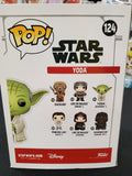 YODA STAR WARS #124 (CHROME) Limited Edition Exclusive FUNKO POP