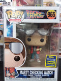 Marty mcfly checking Watch sdcc 2020 back to the future funko pop #965