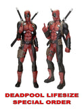 Deadpool lifesize foam over 6 ft tall by NECA