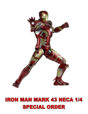 IRON MAN MARK 43 NECA 1/4  18 INCH