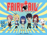 fairy tail wall scroll chibi team 60554