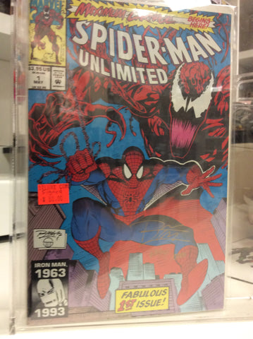 Spider-Man unlimited # 1 Maximum Carnage signed by Ron Lim certificate include