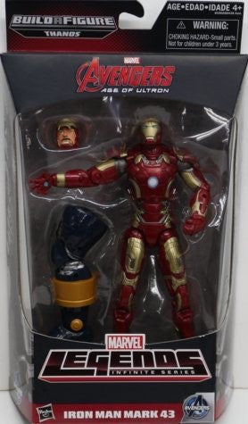 Iron Man mark 43 Marvel Legends Thanos baf