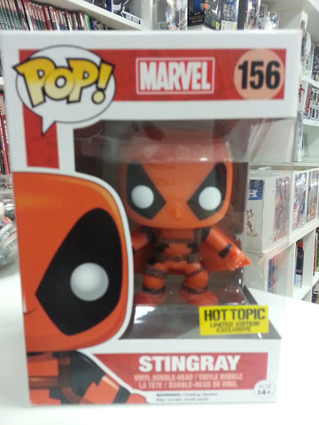 Stingray deadpool pop exclusive hot topic #156 marvel