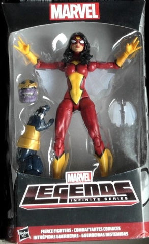 Spider Woman Marvel Legends Thanos baf