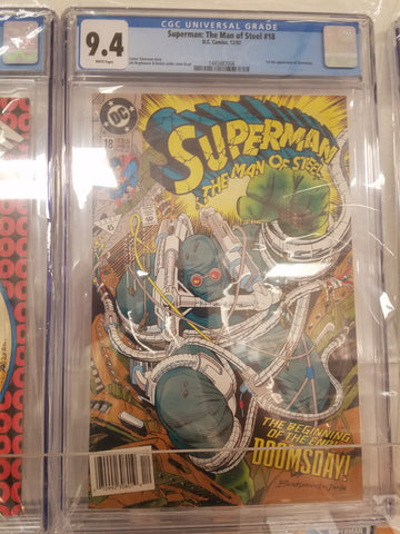 Superman the man of Steel #18  1st app doomsday CGC 9.4