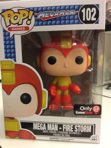 Mega man firestorm  megaman exclusive GameStop pop games #102