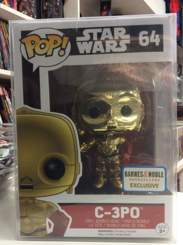 C3PO Star Wars funko pop BN exclusive #64 gold