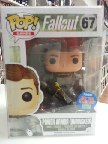 Fallout Power armor unmasked pop exclusive New York comic con exlusive #67