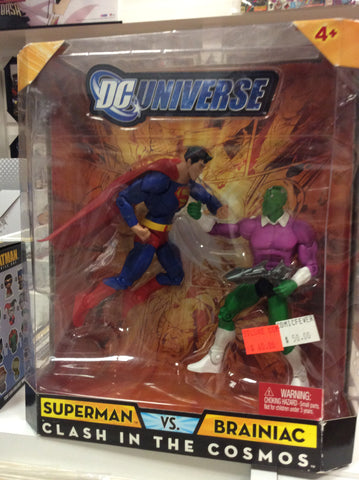 Dc universe Super vs Brainiac clash in the cosmos Figures pack