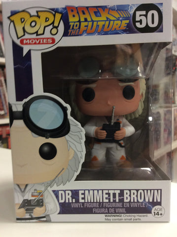 Dr. Emmett Brown back to the future pop movies # 50
