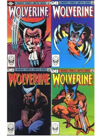 Wolverine 1-4 comics  set 1982 in his own series
