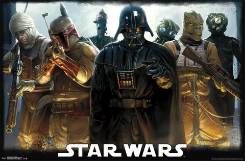 Star wars bounty hunters poster 22x34 RP13110