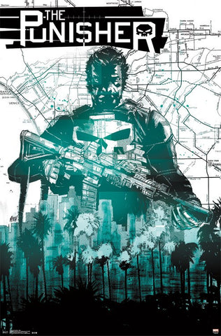 the Punisher Map poster 22x34 RP14300