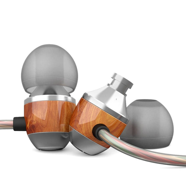 APIE Premium Genuine Wood Corded In-ear Headphone Earbuds