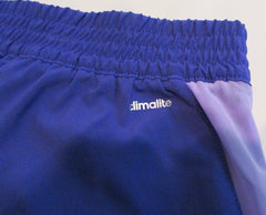 Adidas Women 2 in 1 Woven Climalite Running Shorts Small & Medium Purple S02046