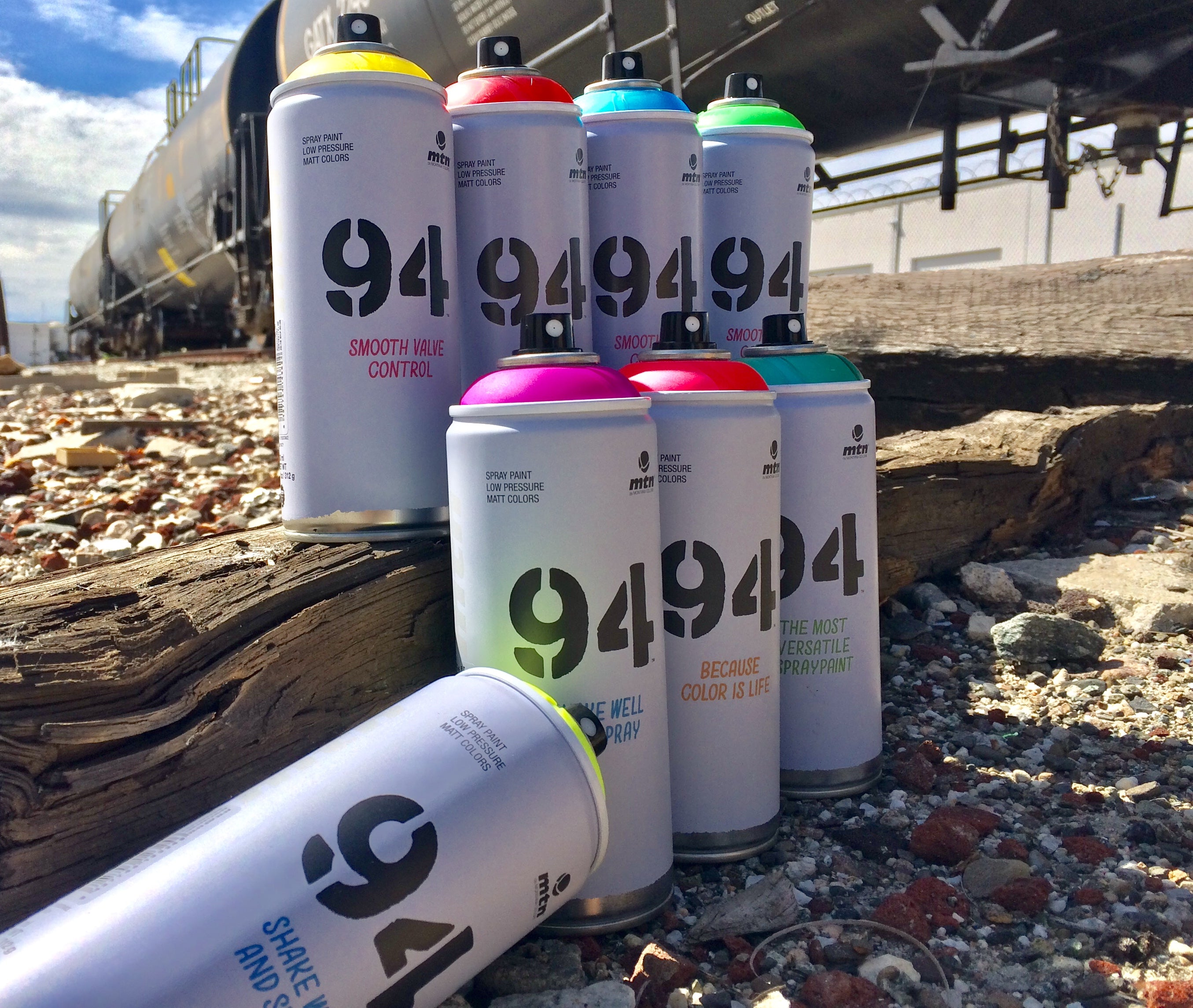 Spray Planet Review: MTN 94 Fluorescent and Transparent Colors