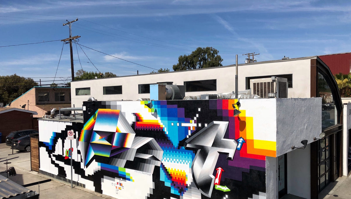 How Felipe Pantone Developed his Unique Tripped Out Graffiti Style