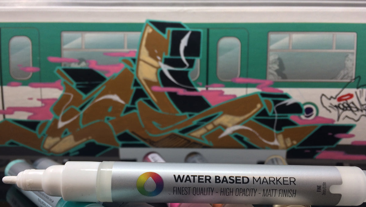 Spray Planet Review: MTN Train Systems & Montana Water Based Markers