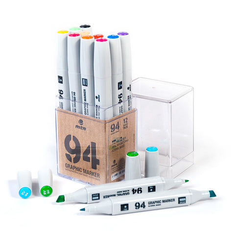 MTN 94 Graphic Marker Set - 12 Colors