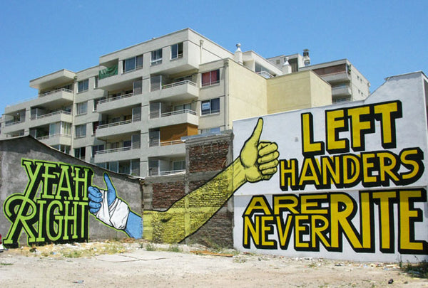 ABOVE street art murals with messaging