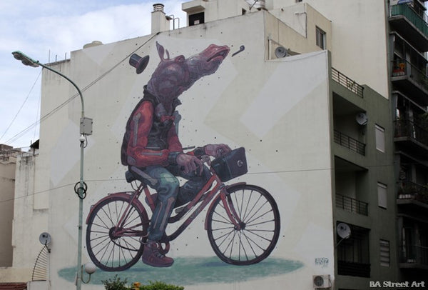 ARYZ mural in Buenos Aires