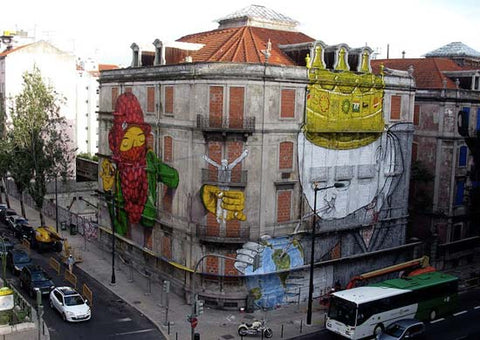 BLU  and Os Gemeos - Graffiti Artist - Street Art - Mural Art