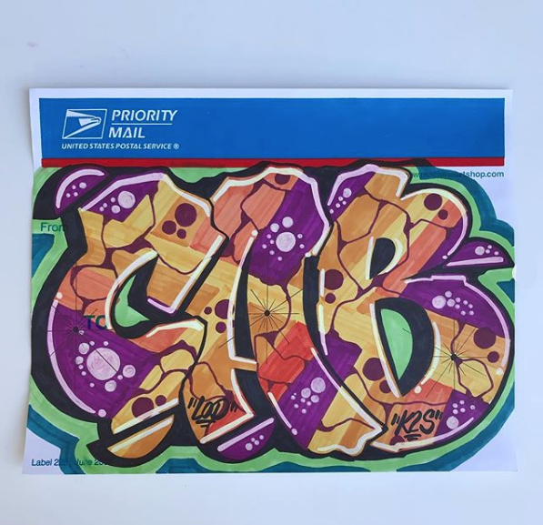 Graffiti Sticker or Slap tag by CAB ONE
