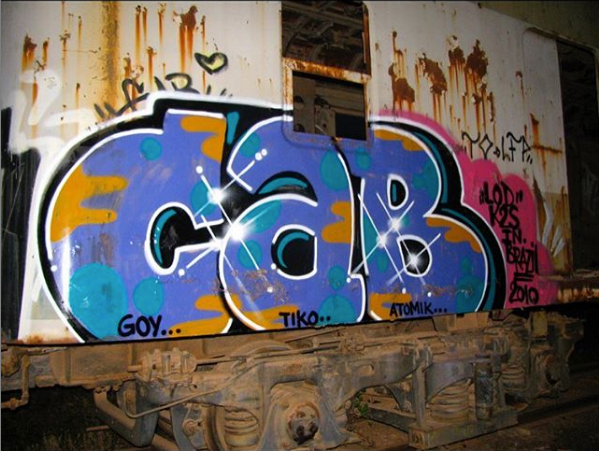 CAB ONE Graffiti Piece in blue and other colors