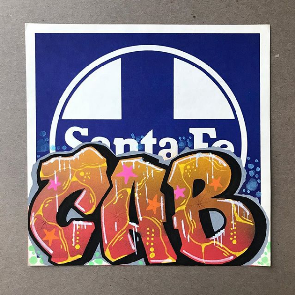 CAB ONE Graffiti Piece on Santa Fe Sign