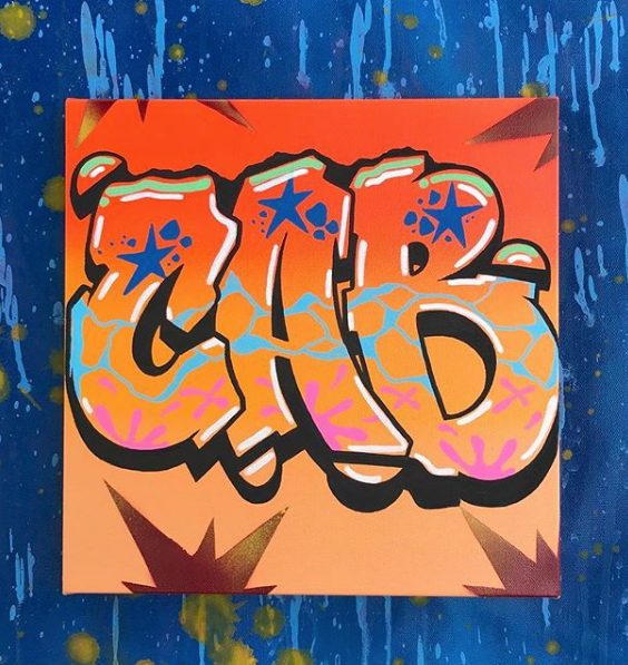 Graffiti Lettering Canvas by CAB ONE K2S LOD